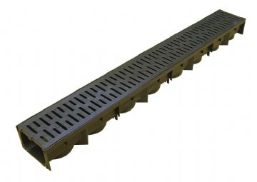 Polypropylene Drainage Channel with Polypropylene Grate - 1m